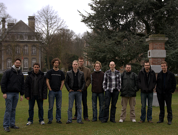 Xfce group picture at FOSDEM 2009